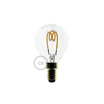 LED-Glühbirne 3W E14, klar Kugel G45, Vintage 2200K, dimmbar