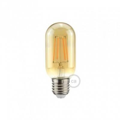 LED-Glühbirne 5W E27, gold ovalförmig T45 , Vintage 2000K, dimmbar