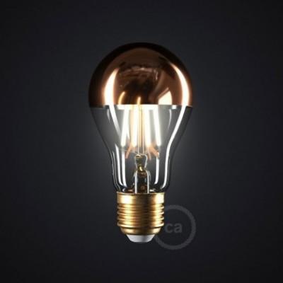 LED-Glühbirne 7W E27, Kupfer Kopfsiegel Drop A60, Vintage 2700K, dimmbar