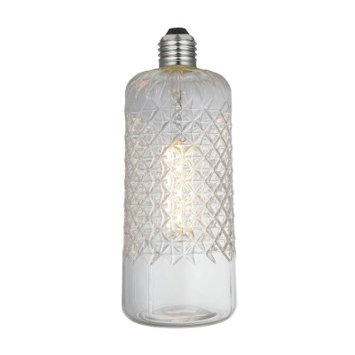 LED Glühbirne Demetra Crystal-Linie klar 6W E27 dimmbar 2700K