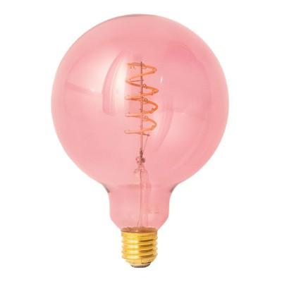 LED-Glühbirne G125 beerenrot (Berry Red) Spiral-Filament 5W E27 dimmbar 1800K