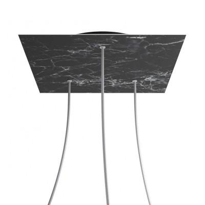 Quadratisches XXL 3-Loch und 4 Seitenlöchern Lampenbaldachin, Rose-One-Abdeckung, 400 mm Dickes