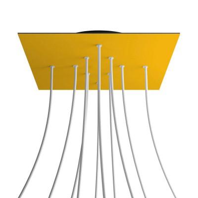 Quadratisches XXL 10-Loch und 4 Seitenlöchern Lampenbaldachin, Rose-One-Abdeckung, 400 mm Dickes