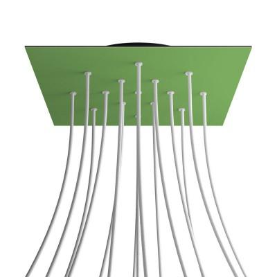 Quadratisches XXL 15-Loch und 4 Seitenlöchern Lampenbaldachin, Rose-One-Abdeckung, 400 mm Dickes