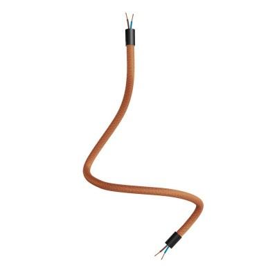 Kit Creative Flex flexibles gewebeummanteltes Kabelrohr, RM74 kupferfarben mit Metallenden