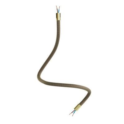 Kit Creative Flex flexibles gewebeummanteltes Kabelrohr, RZ24 schwarz-gold mit Metallenden