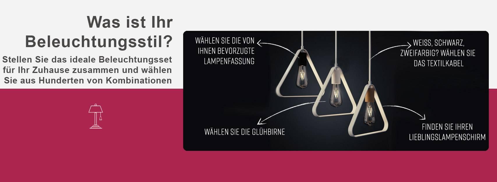 Stellen Sie das ideale Beleuchtungsset für Ihr Zuhause