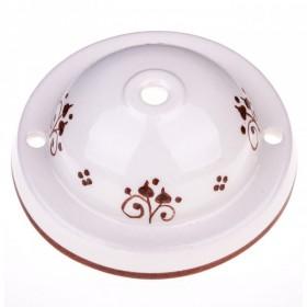 Feines handbemaltes Baldachin aus Keramik