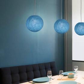 Lampenschirme aus handgefertigtem Polyestergarn