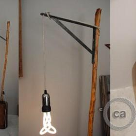 Anna-Lyse Jeandel: Lampe aus geschliertes Holz